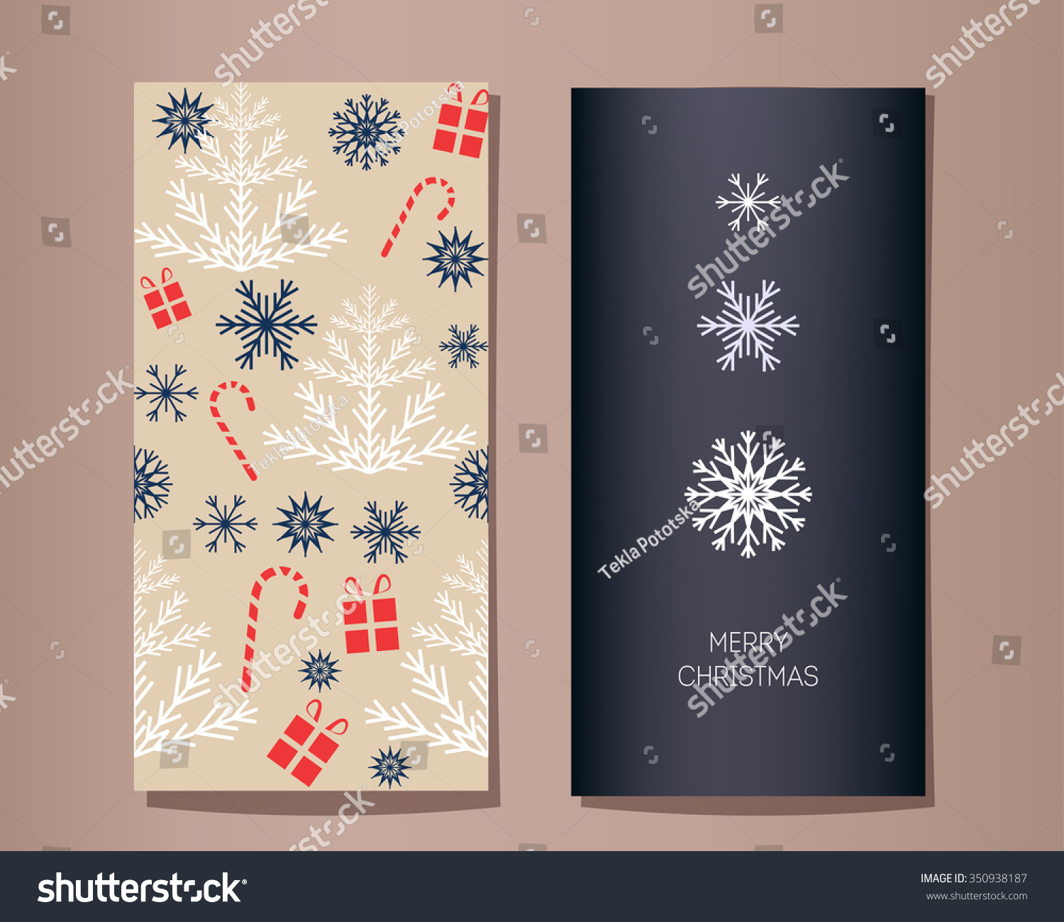 Christmas vector greeting cards set three stock vector 350938187 christmas vector greeting cards set three snowflakes different sizes and shapes fir tree and m4hsunfo