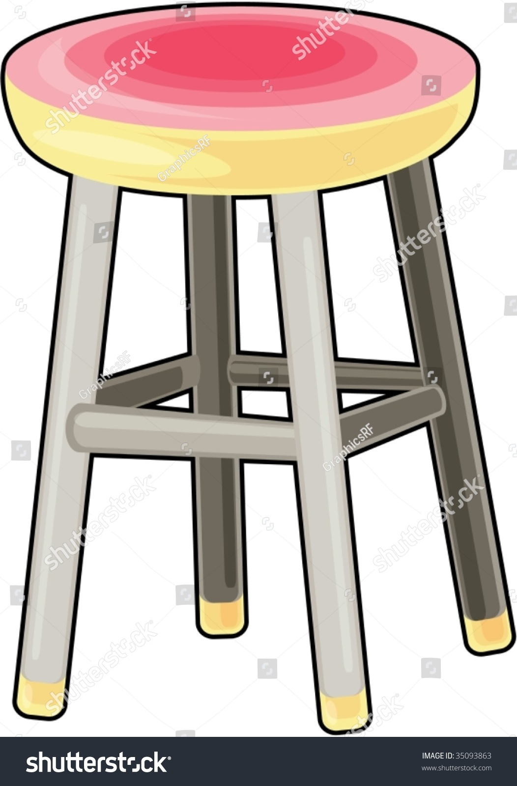 Illustration Of Bar Stool On White 35093863 Shutterstock : stock vector illustration of bar stool on white 35093863 from shutterstock.com size 1052 x 1600 jpeg 230kB