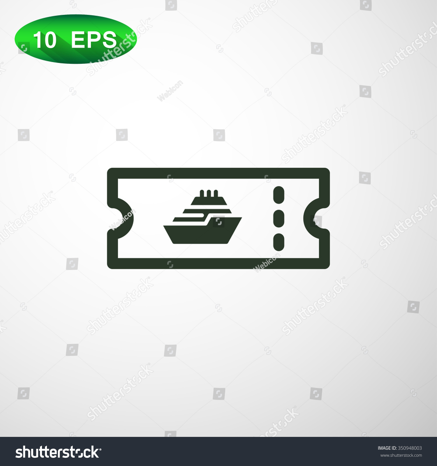 Cruise Ship Tickets Icon Stock Vector Shutterstock - How much is a cruise ship ticket