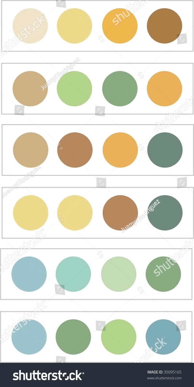 calm color combinations stock vector 35095165 - shutterstock