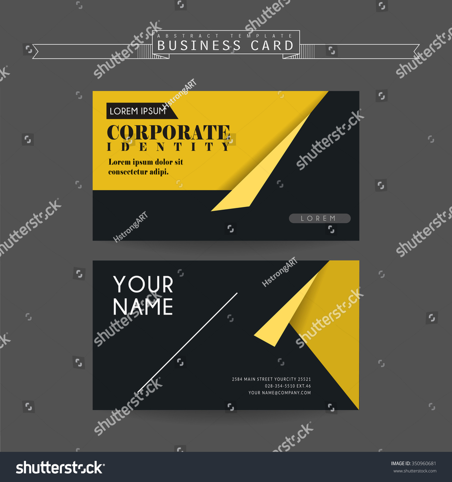 Attractive business card template design origami stock vector attractive business card template design with origami elements jeuxipadfo Gallery