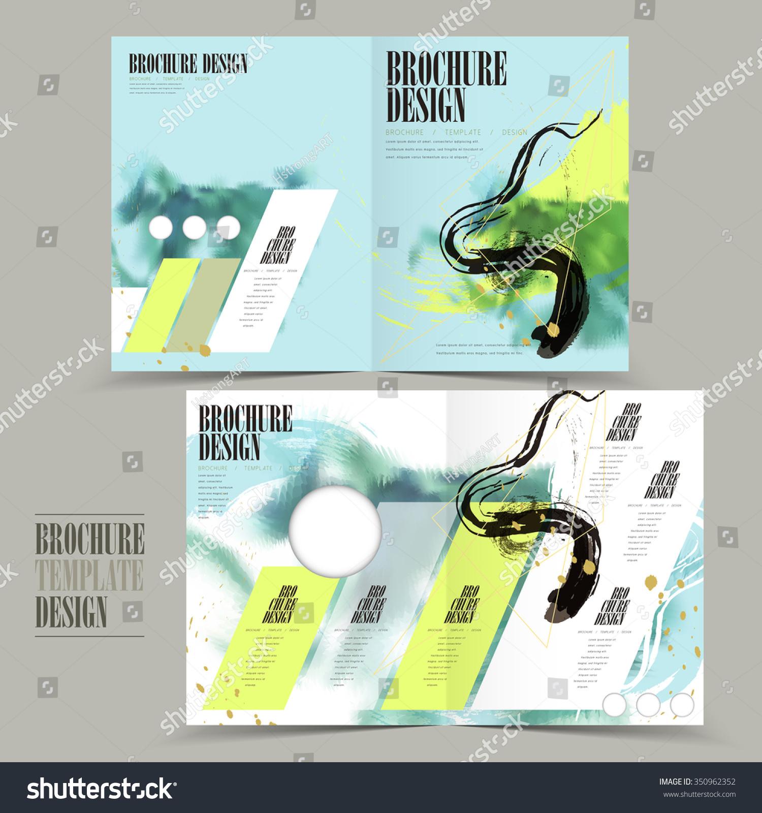 single fold brochure template