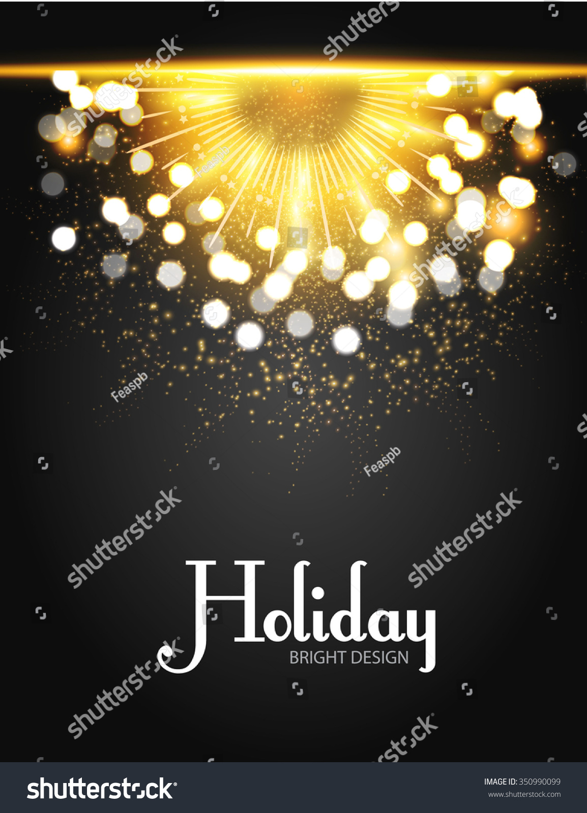firework flyer template shining elegant holiday design vector save to a lightbox