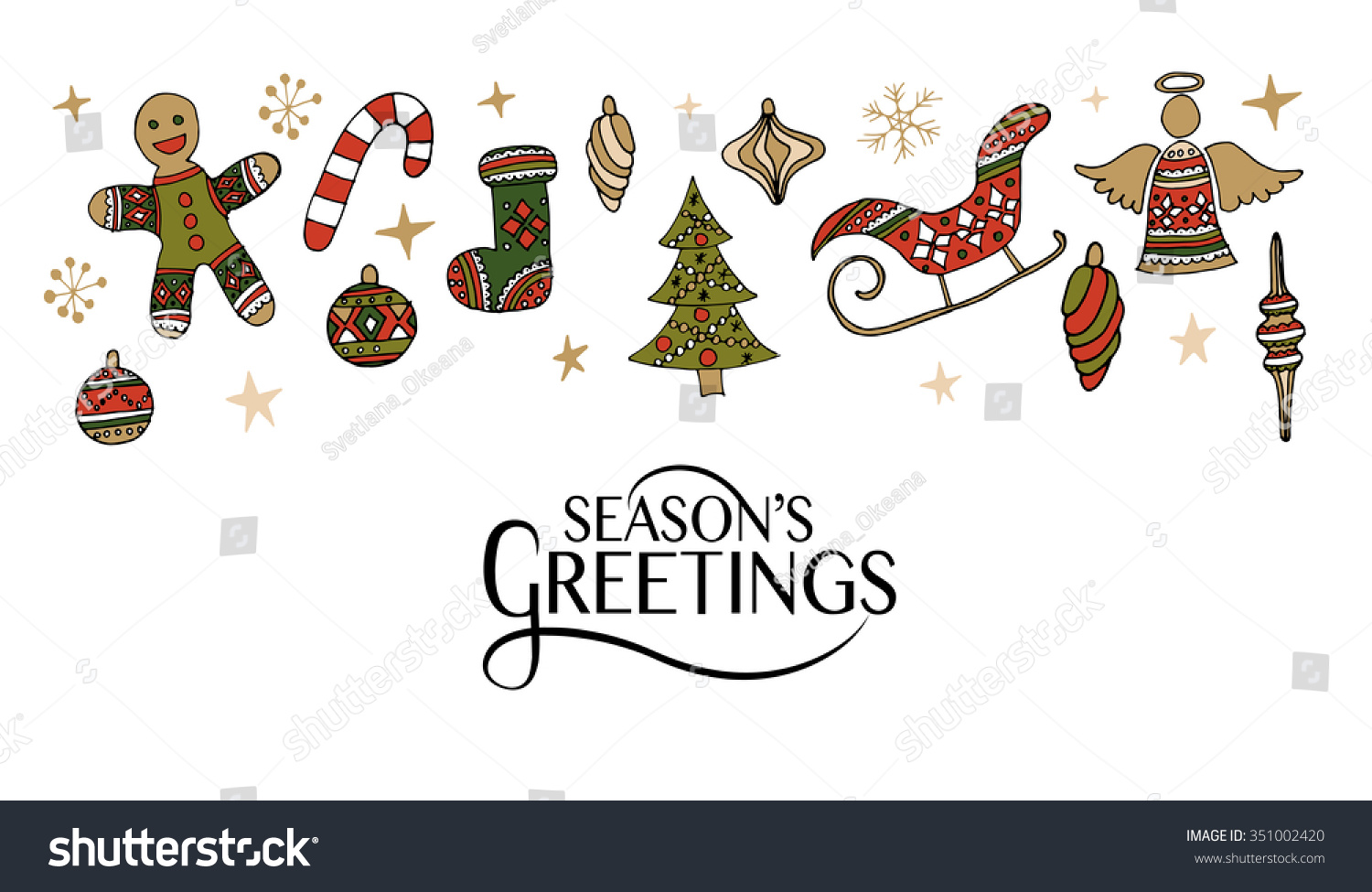 Hand sketched seasons greetings logotype badge stock vector hand sketched seasons greetings logotype badge and icon typography lettering with hand drawn christmas kristyandbryce Choice Image