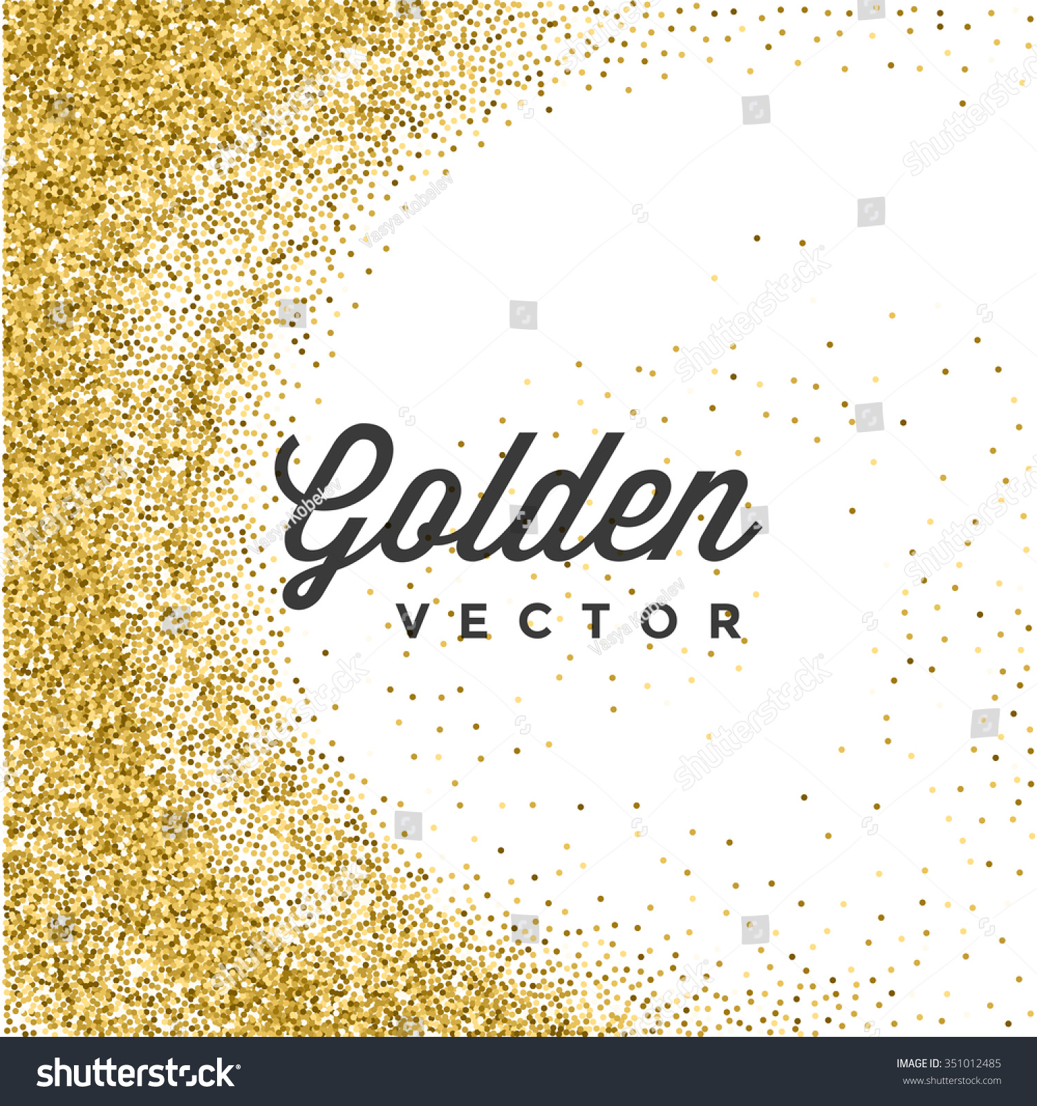 Gold glitter bright vector transparent background golden sparkles - Gold Glitter Sparkles Bright Confetti White Vector Background Good For Greeting Gold Cards Luxury