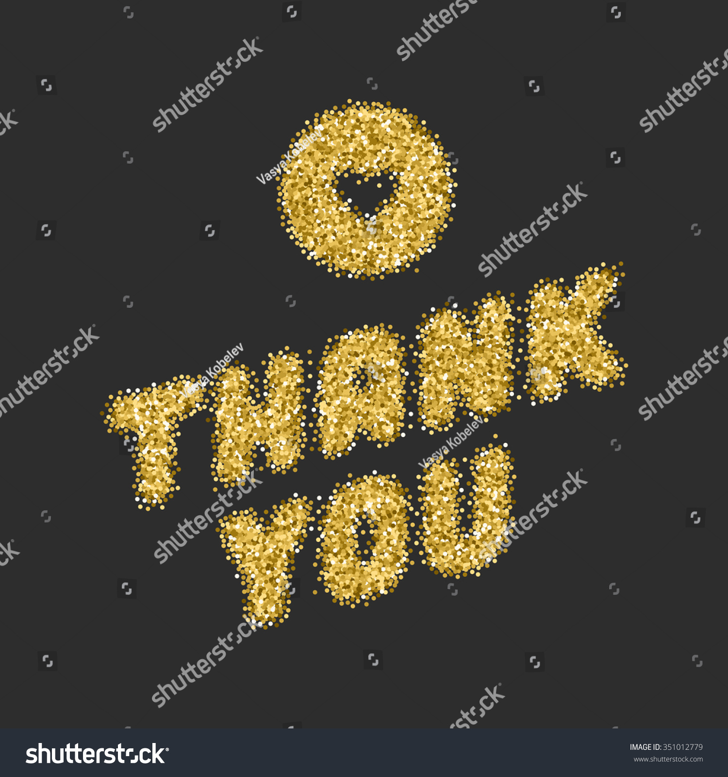 Thank You Typography Message Vintage Greeting Stock Vector