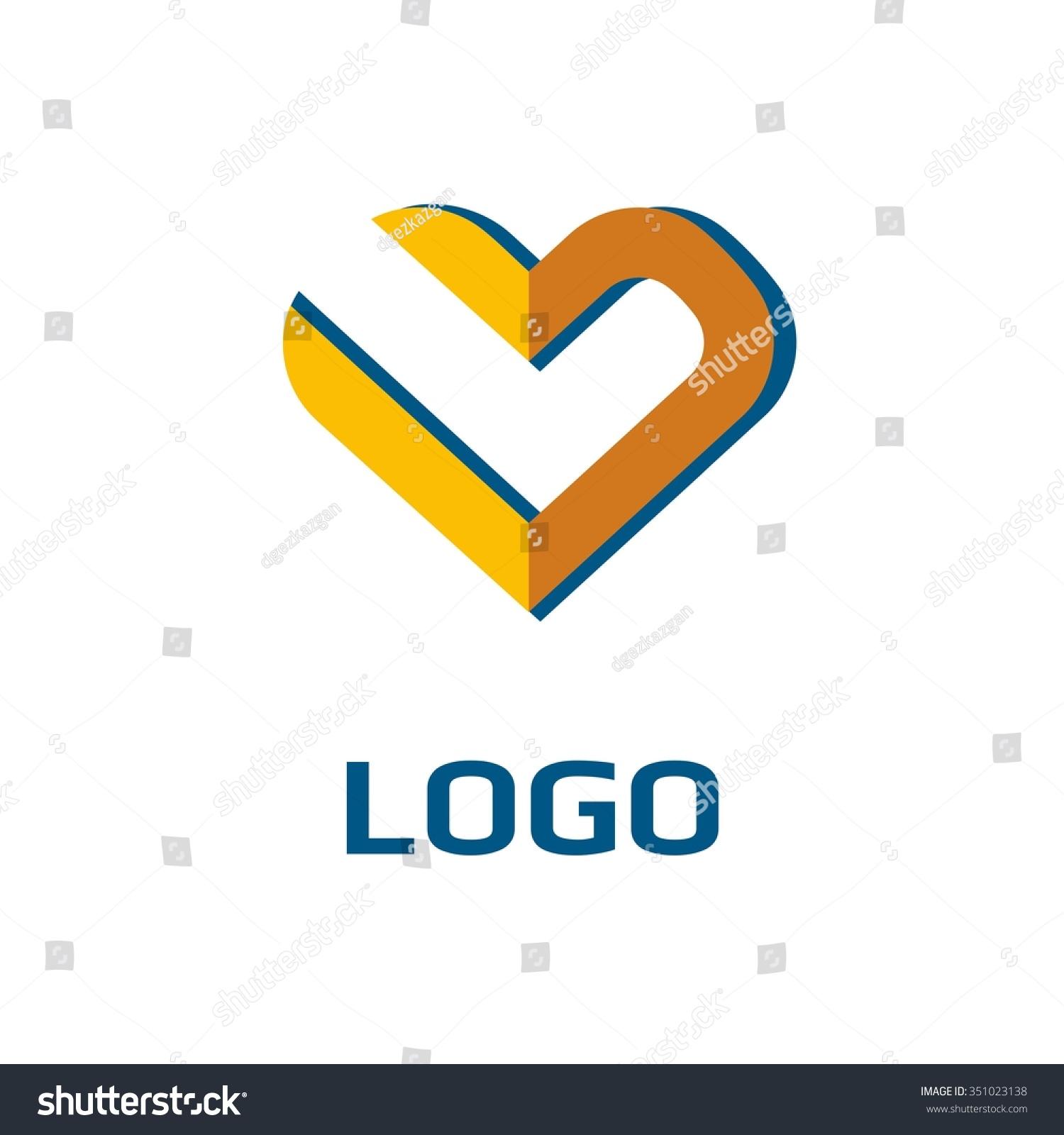 Vector heart icon business icon company stock vector 351023138 vector of heart icon business icon for the company abstract symbol logo for biocorpaavc