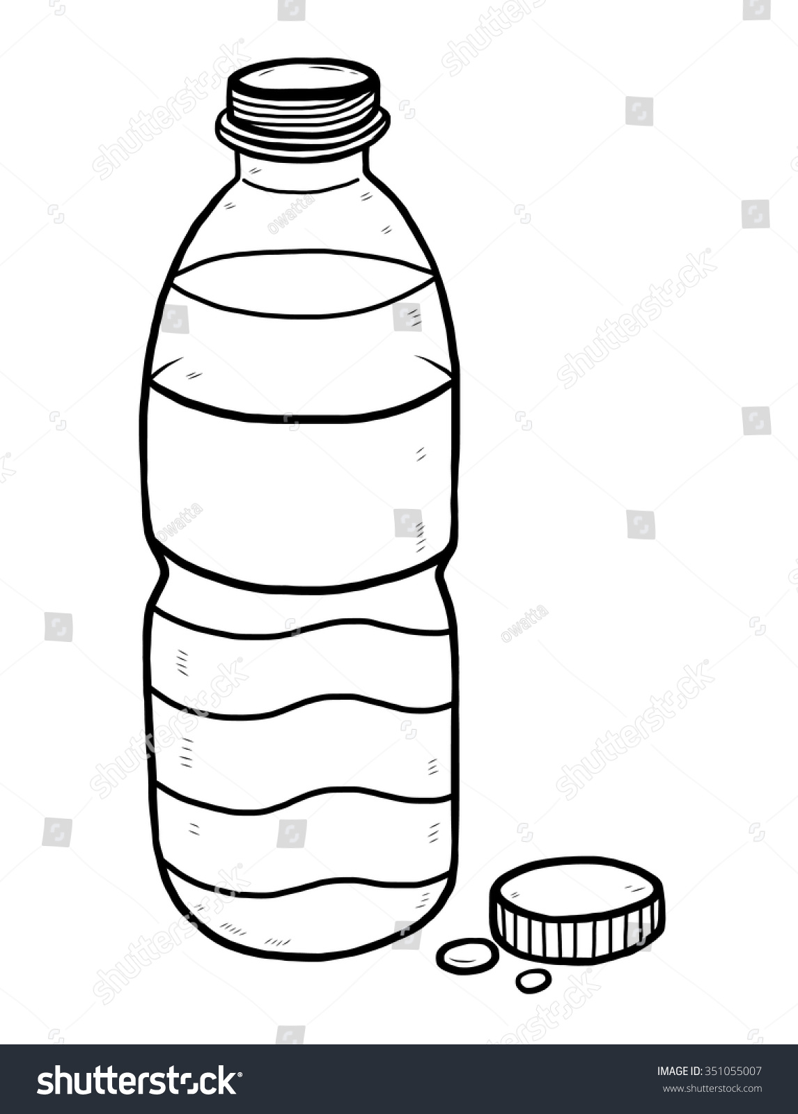 royalty free water bottle cartoon vector and 351055007 stock