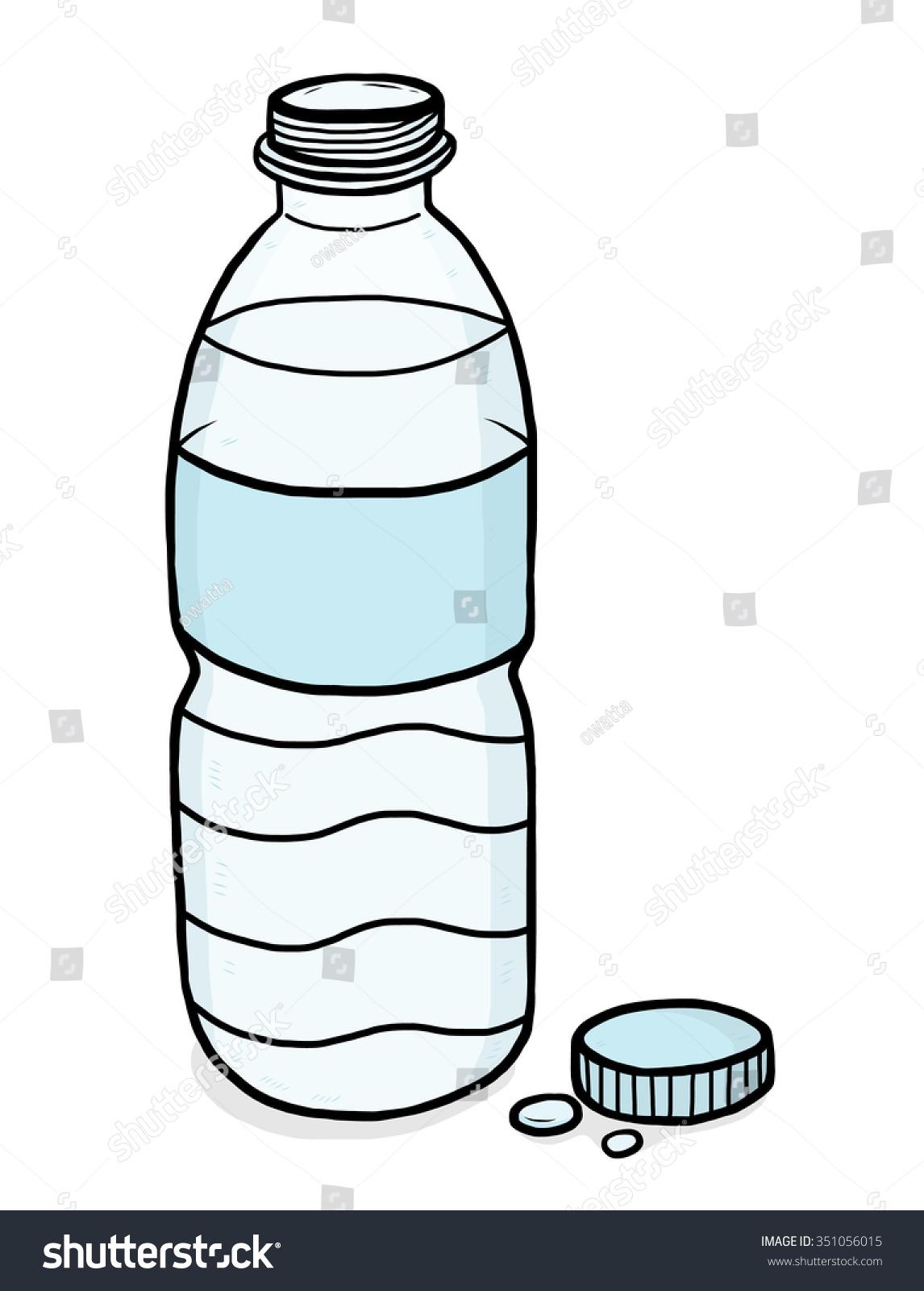 royalty free water plastic bottle cartoon vector 351056015 stock