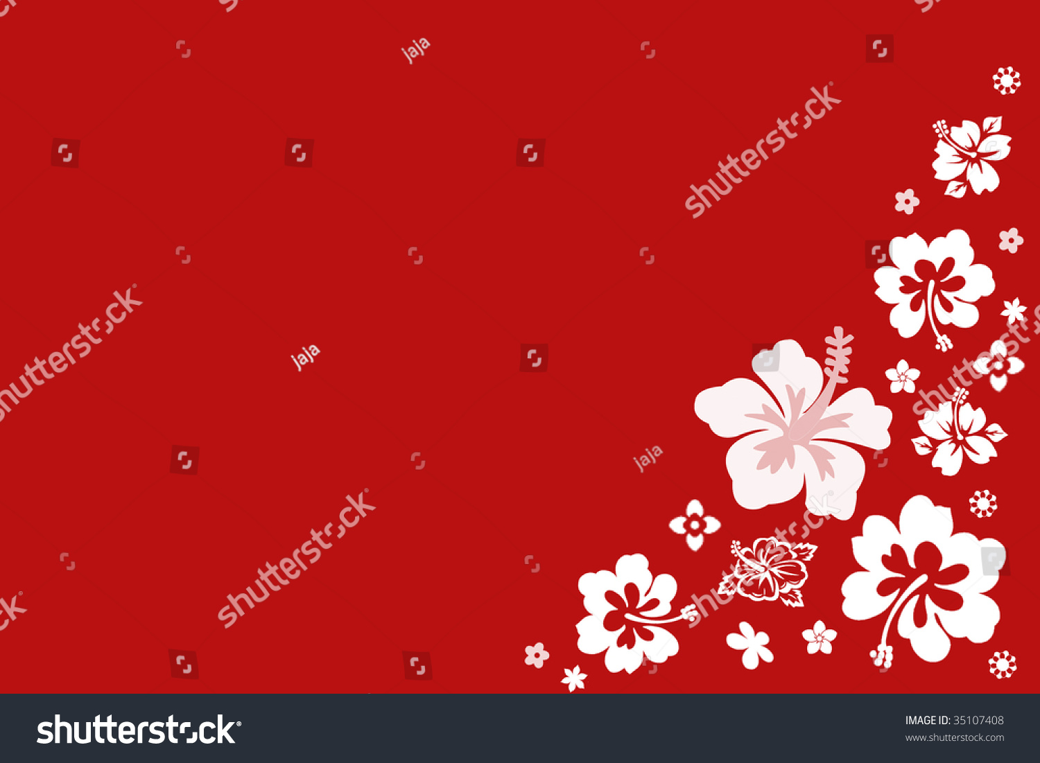 Background With Hawaiian Flower Pattern