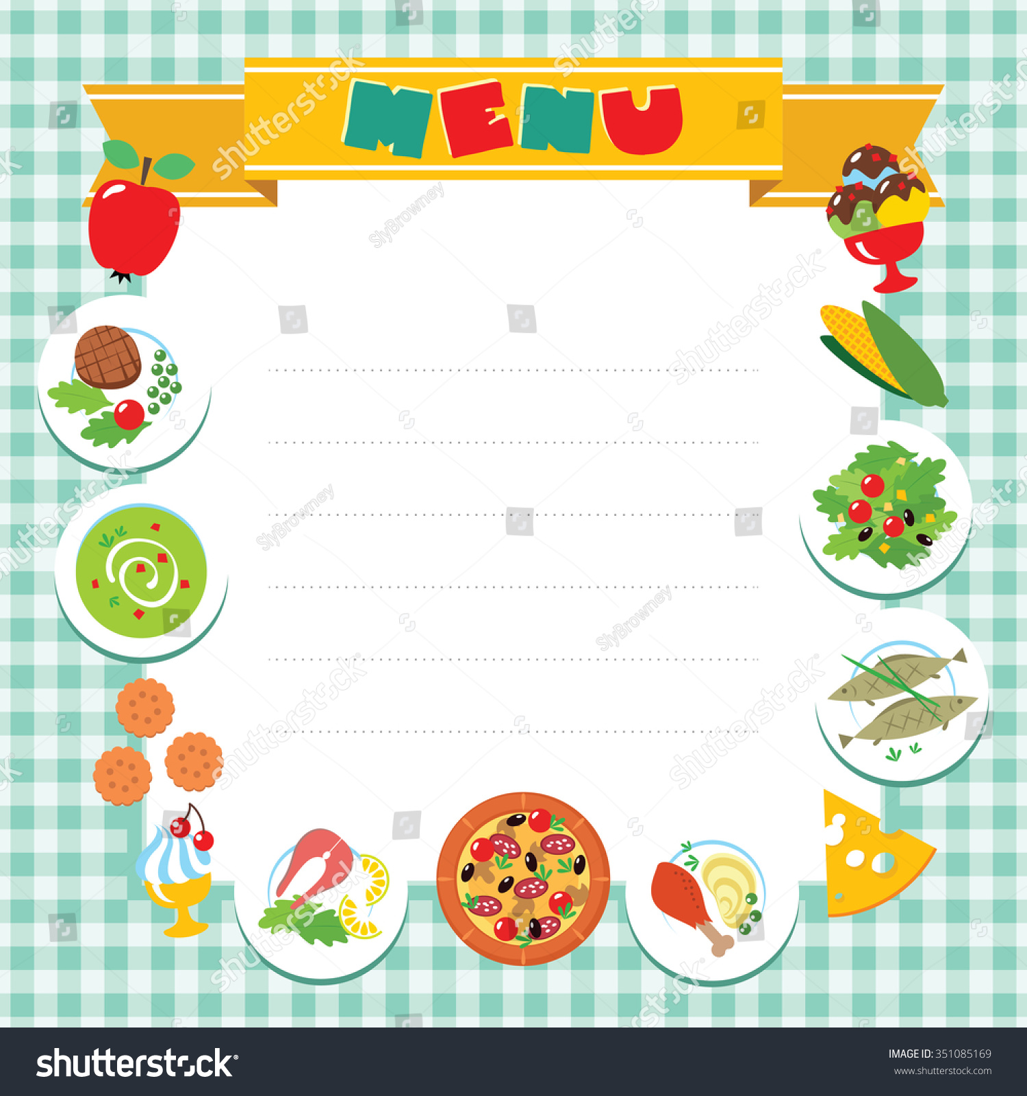 cafe restaurant menu vector design template stock vector (royalty