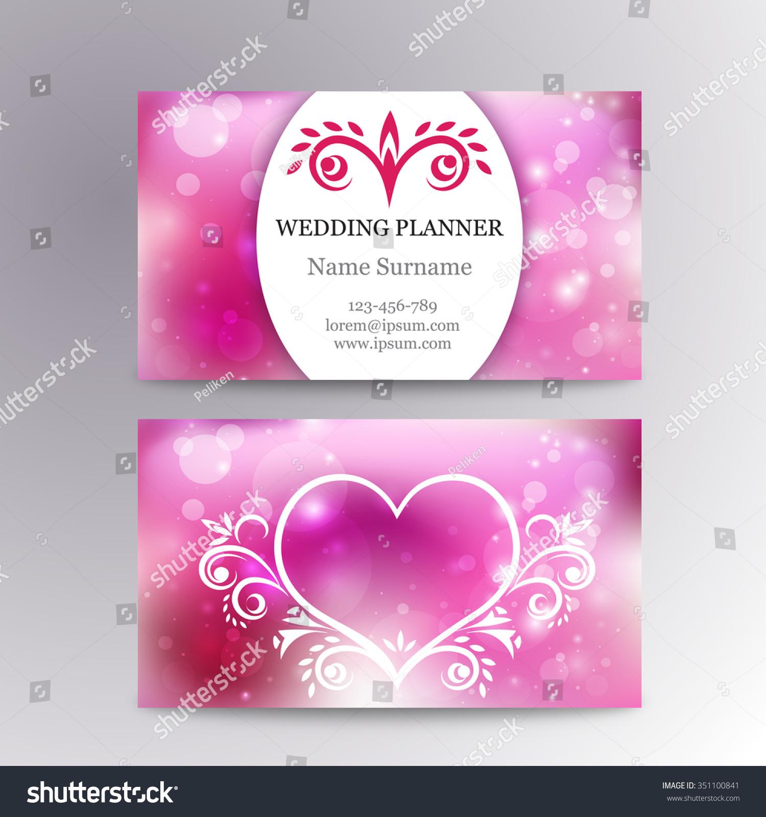 Vector Elegant Feminine Business Card Template Stock Vector ...