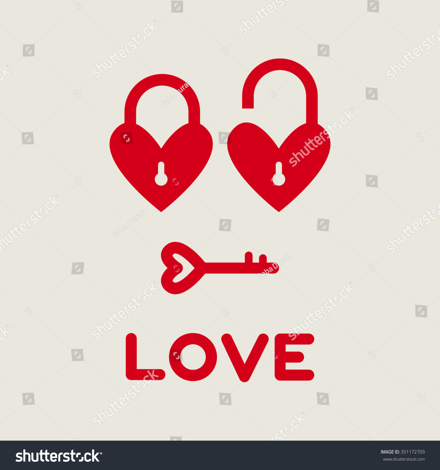 Two Heart Padlocks Close And Open Love Key Word Key Love Love