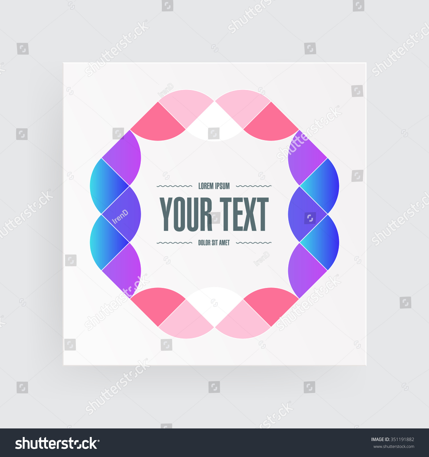 Poster design eps - Minimal Light Square Poster Design With Abstract Ornament And Your Text Eps 10 Stock Vector