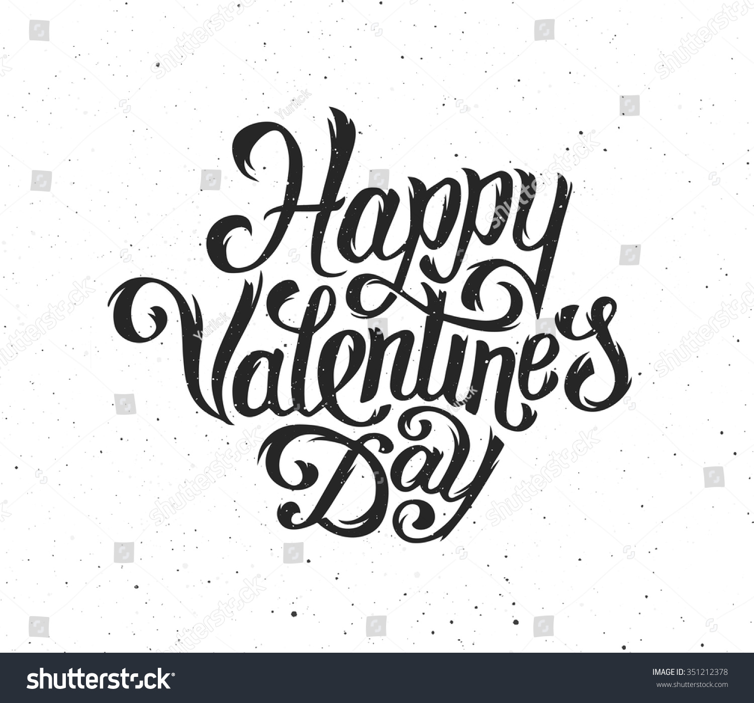 Happy Valentines Day Typography Text On Stock Vector 351212378 - Shutterstock
