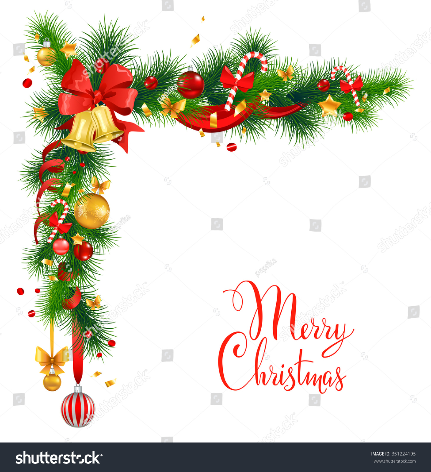 Christmas Decorations Bells Holiday Background Design