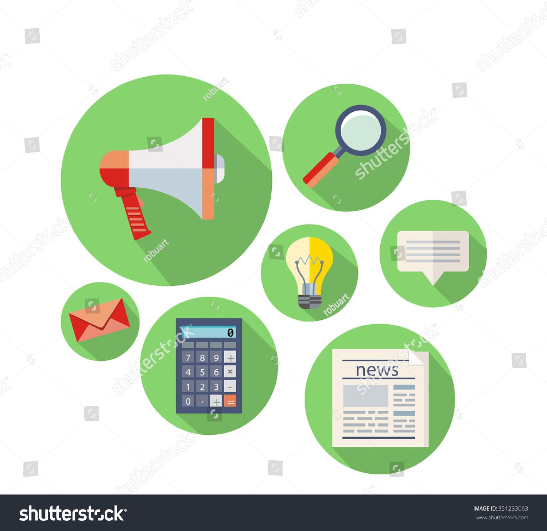 Marketing Concept Flat Design Icon Marketing Stock Illustration 351233063 Shutterstock