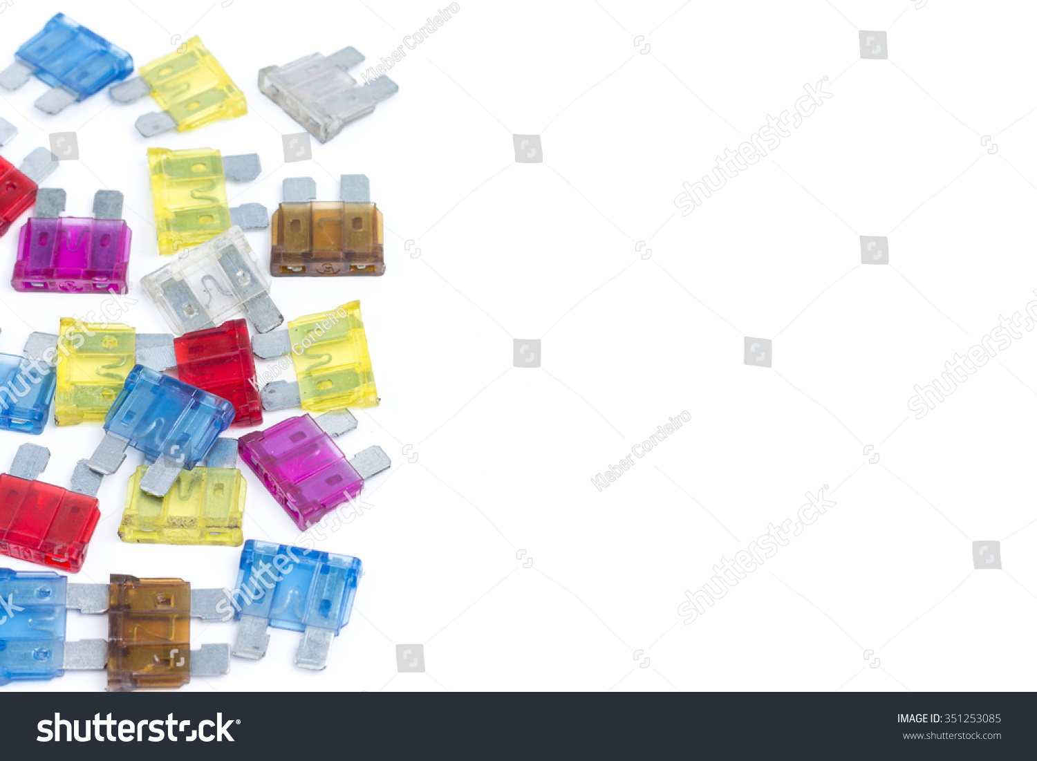 Car Fuse Pile Colorful Electrical Automotive Stock Photo