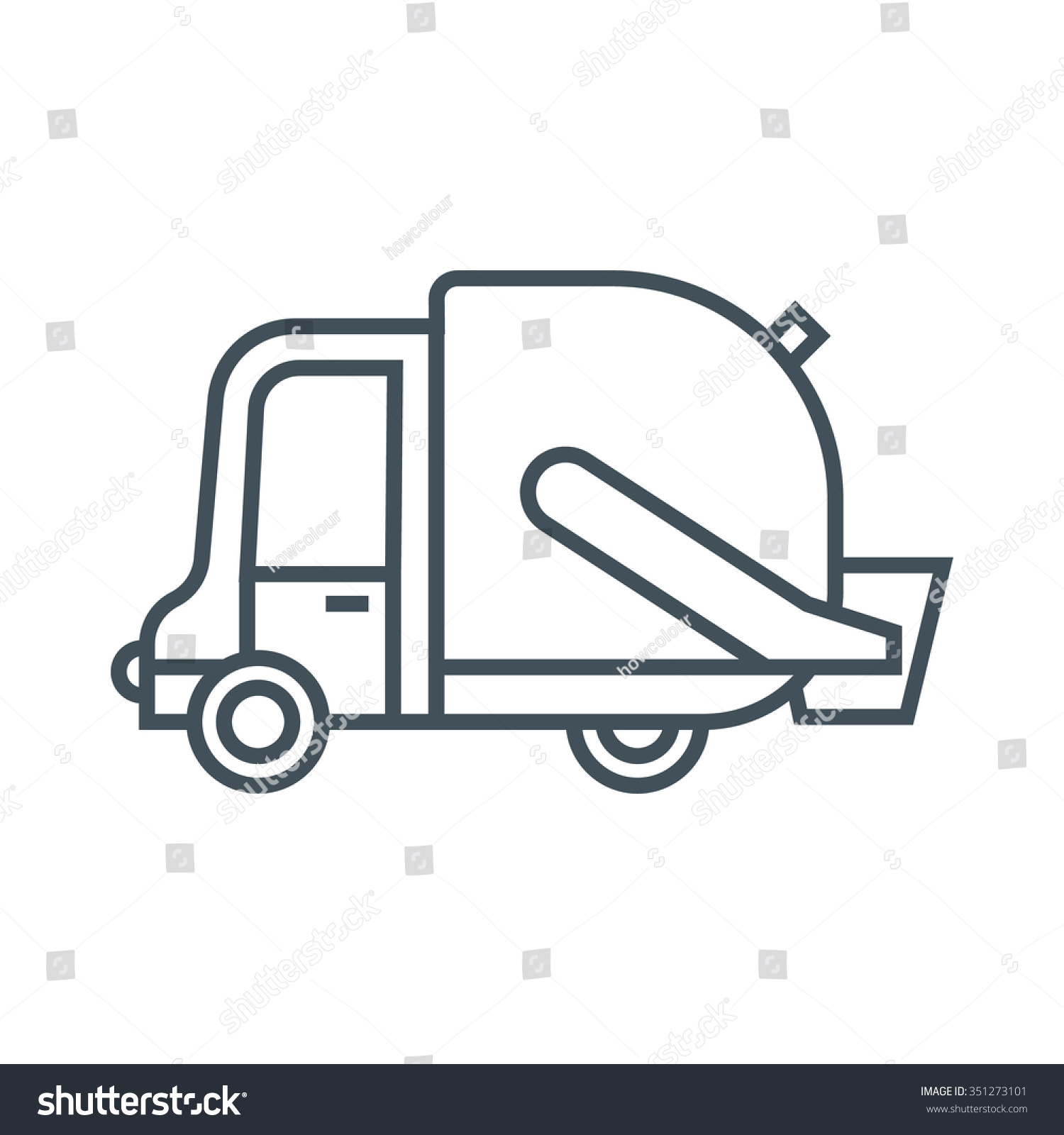 Garbage truck coloring book pages - Waste Management Garbage Truck Icon Suitable For Info Graphics