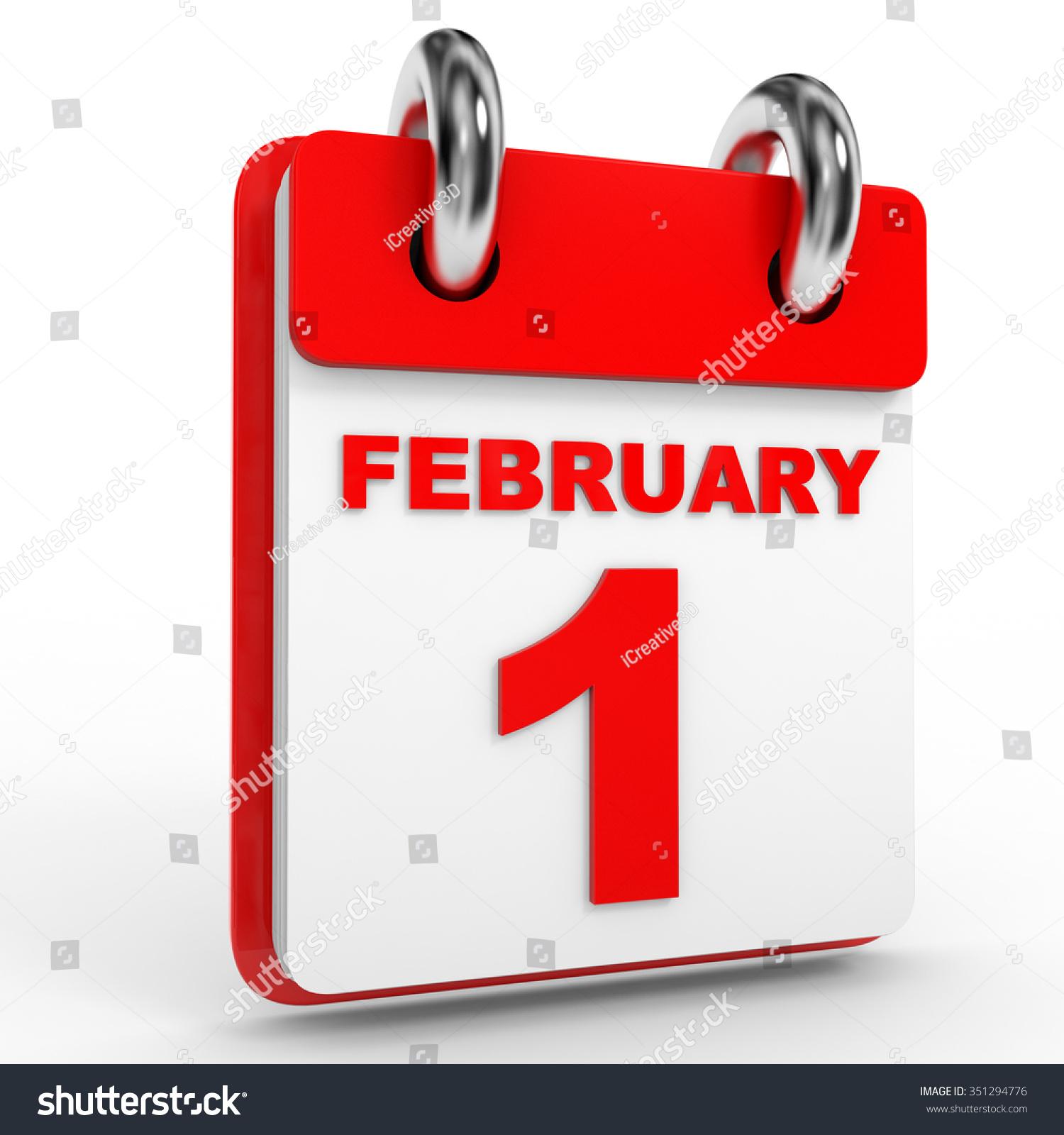 February Calendar Illustration : February calendar on white background stock illustration