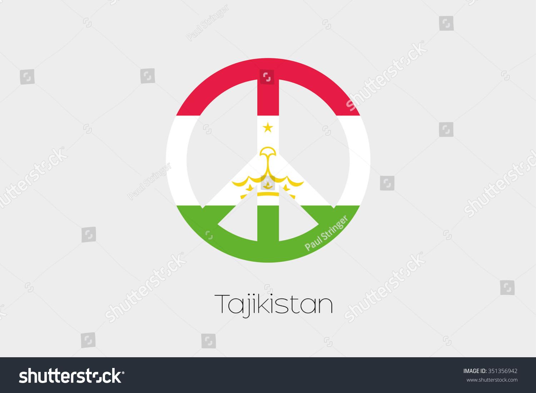 Peace symbol flag tajikistan stock vector 351356942 shutterstock a peace symbol with the flag of tajikistan biocorpaavc