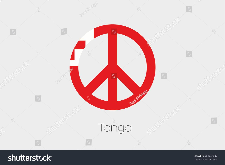 Peace symbol flag tonga stock vector 351357020 shutterstock a peace symbol with the flag of tonga biocorpaavc