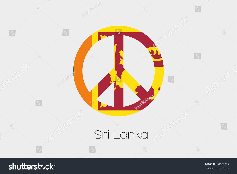 Peace symbol flag sri lanka stock vector 351357053 shutterstock a peace symbol with the flag of sri lanka biocorpaavc