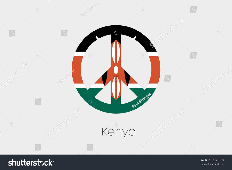 Peace symbol flag kenya stock vector 351361457 shutterstock a peace symbol with the flag of kenya biocorpaavc