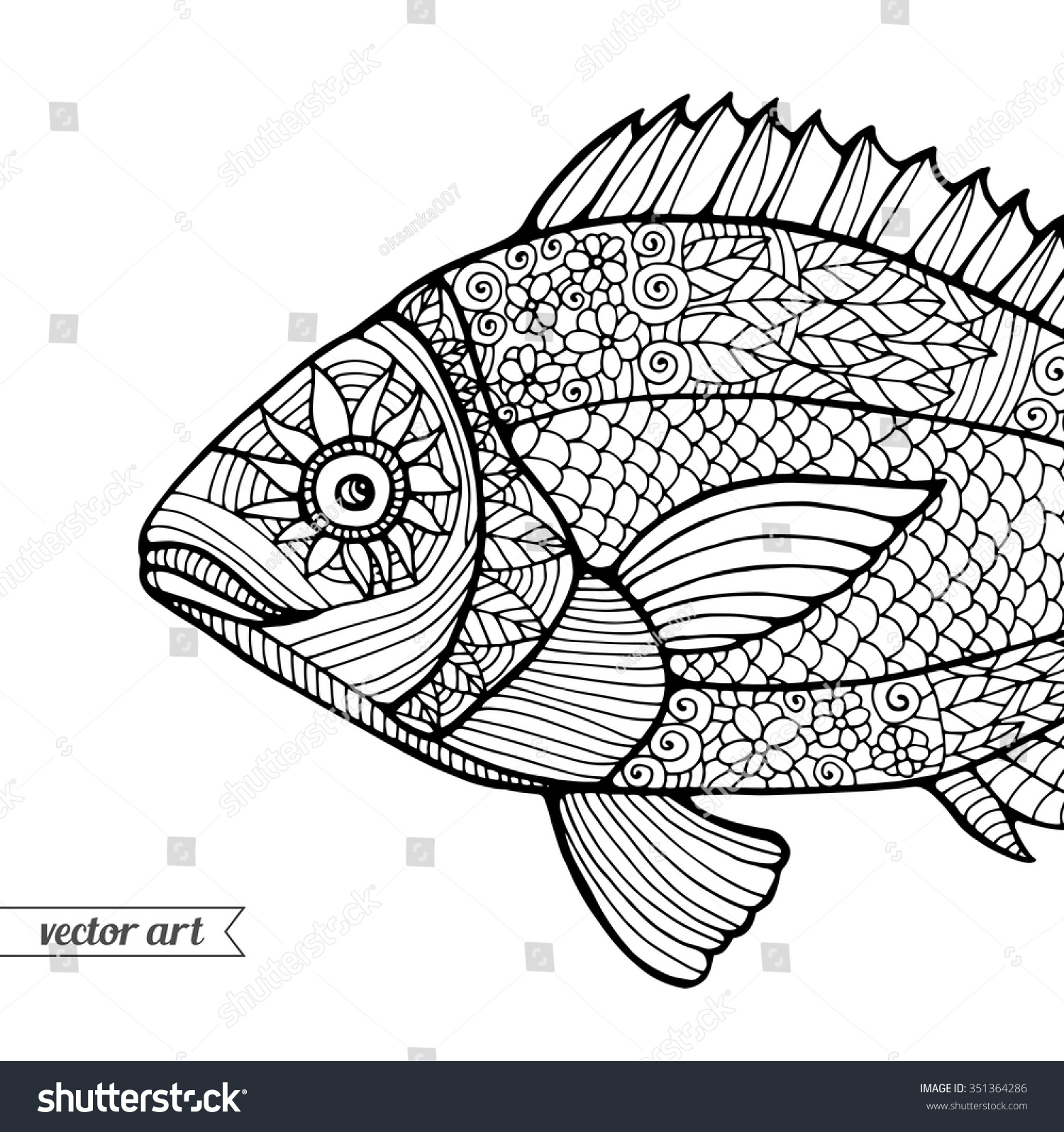 Gallery For gt Zentangle Fish Patterns