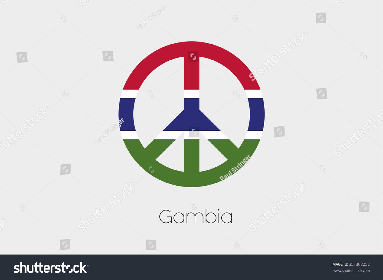 Peace symbol flag gambia stock vector 351368252 shutterstock a peace symbol with the flag of gambia biocorpaavc