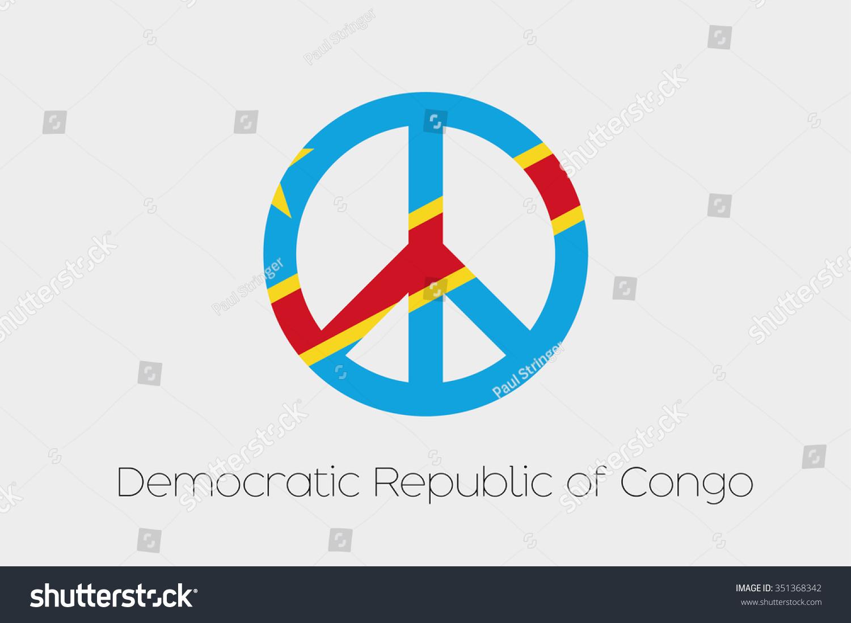 Peace symbol flag democratic republic congo stock vector 351368342 a peace symbol with the flag of democratic republic of congo biocorpaavc