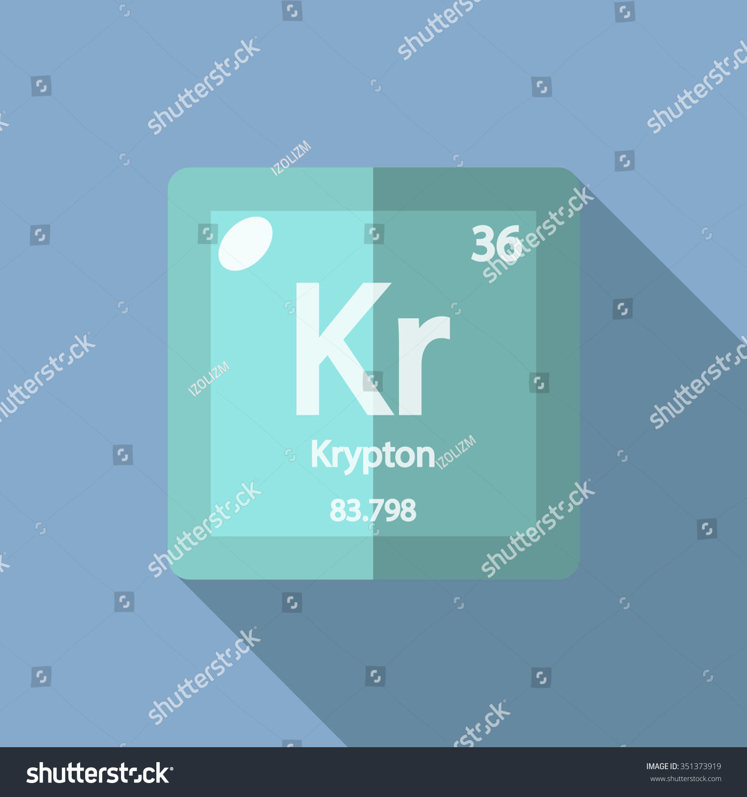 Chemical element krypton flat design style stock vector 351373919 chemical element krypton flat design style modern vector illustration buycottarizona