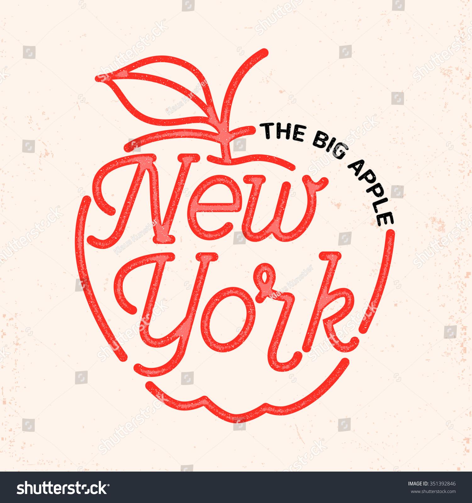 New York City Typography Line Art Design For Apparel T Shirt Print