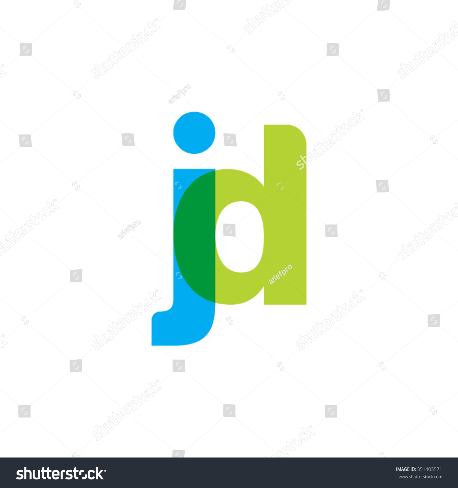 lowercase jd logo blue green overlap stock vector royalty free 351403571 shutterstock