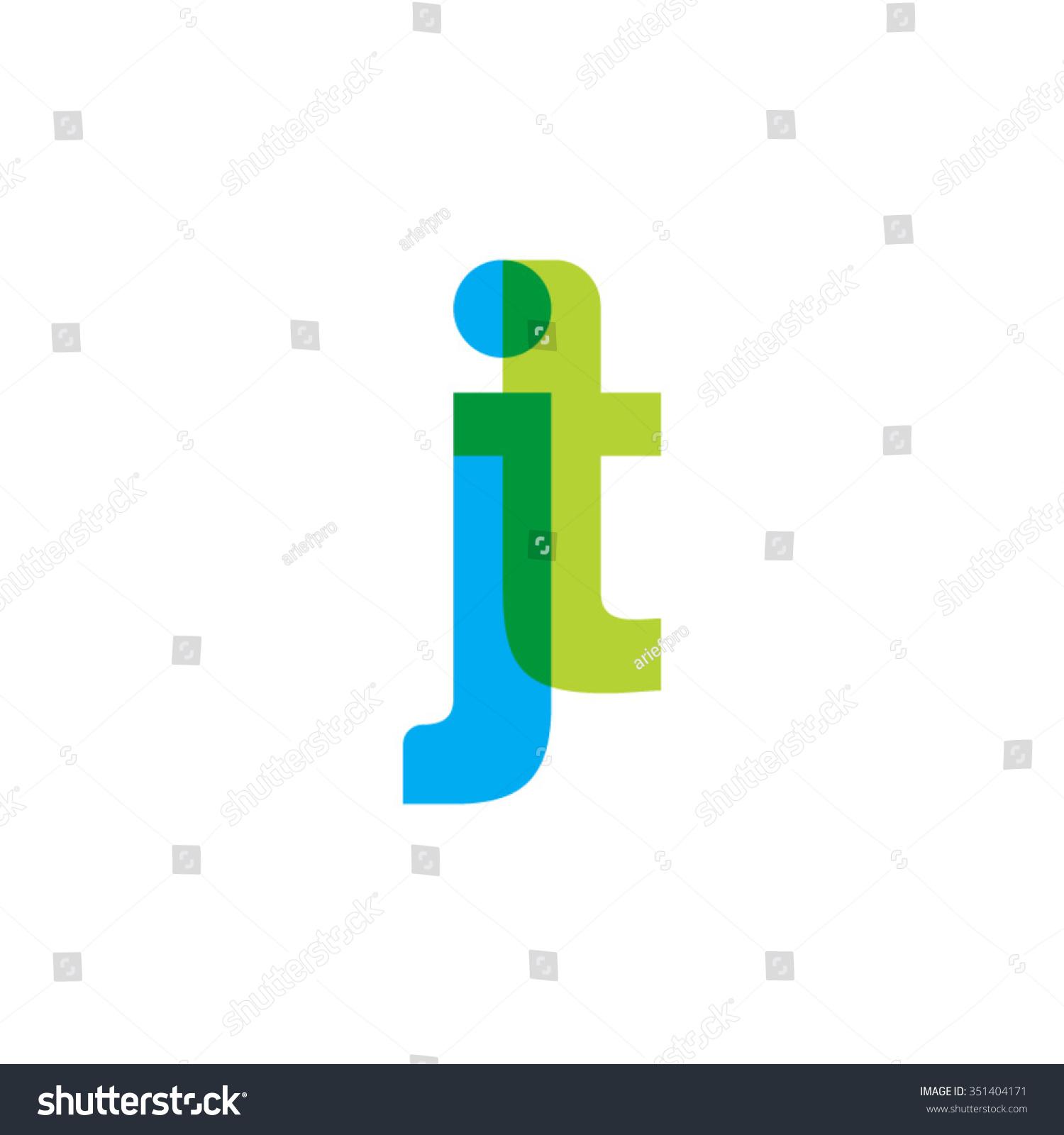 Tj initial luxury ornament monogram logo stock vector - Lowercase Jt Logo Blue Green Overlap Transparent Logo