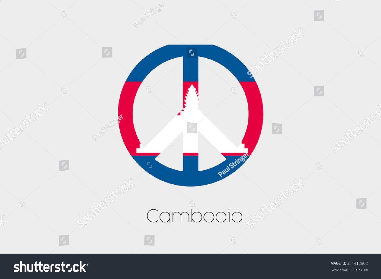 Peace symbol flag cambodia stock vector 351412802 shutterstock biocorpaavc