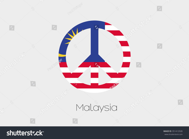 Peace symbol flag malaysia stock vector 351412928 shutterstock a peace symbol with the flag of malaysia biocorpaavc