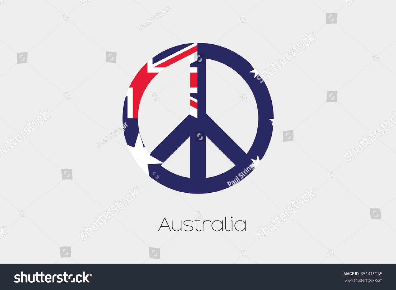 Peace symbol flag australia stock vector 351415235 shutterstock a peace symbol with the flag of australia biocorpaavc
