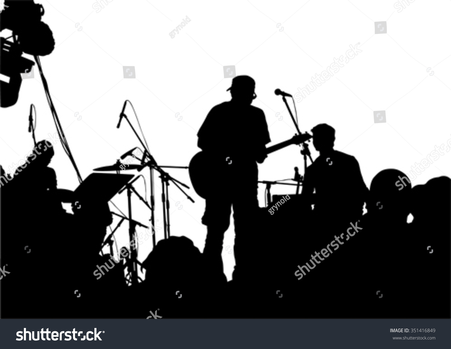 Pics photos rock concert background - Concert Of Rock Band On A White Background