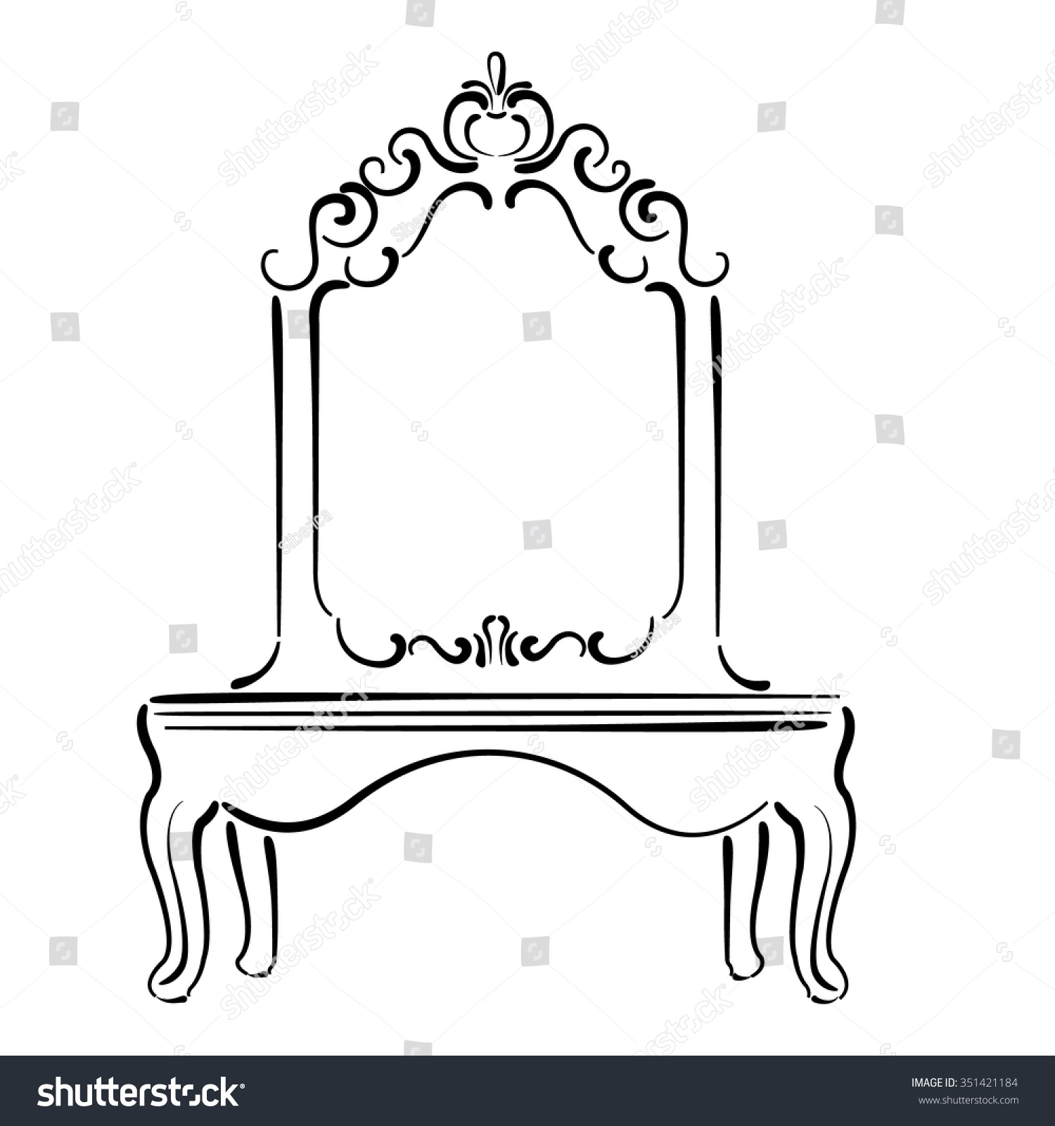 Standing Mirror Clipart Black And White The