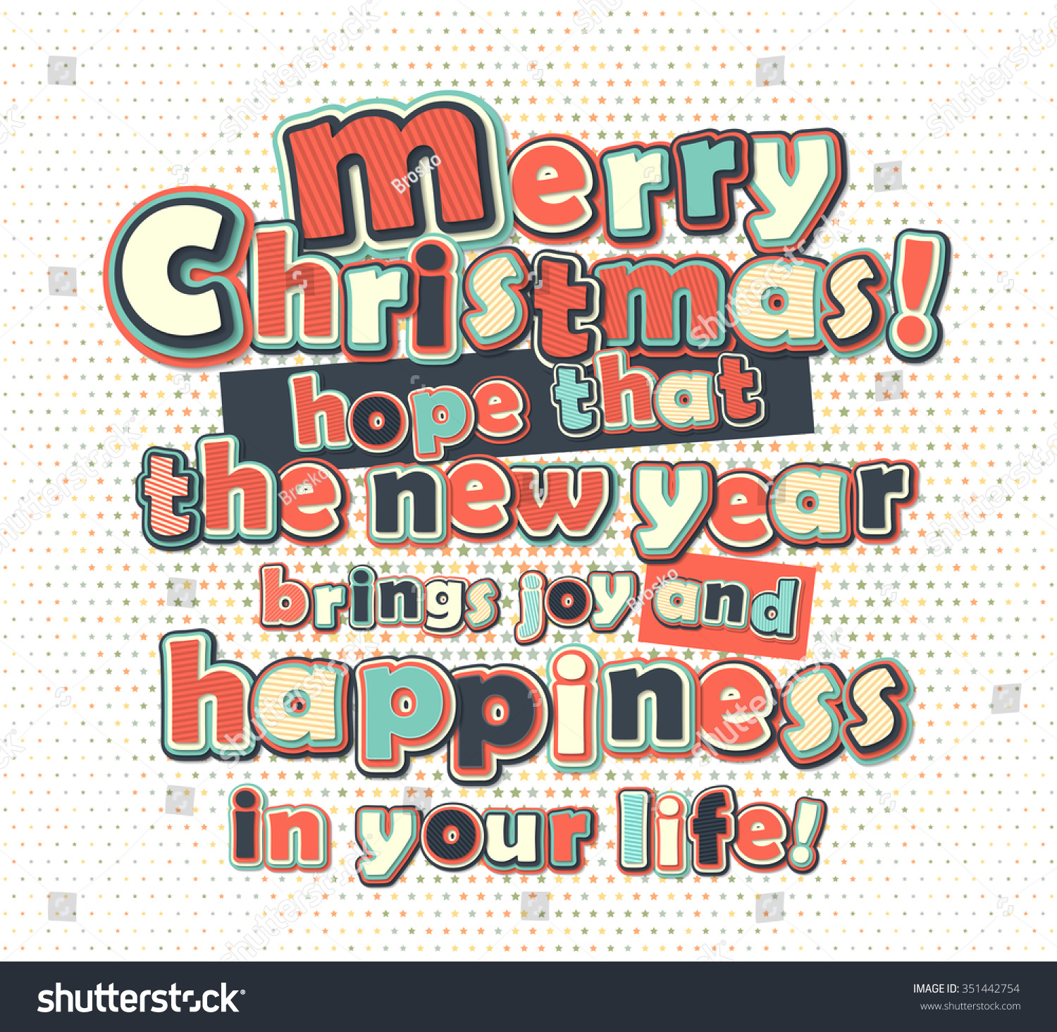 Poster greetings merry christmas happy new stock vector royalty poster with greetings merry christmas and happy new year creative lettering greeting card with m4hsunfo