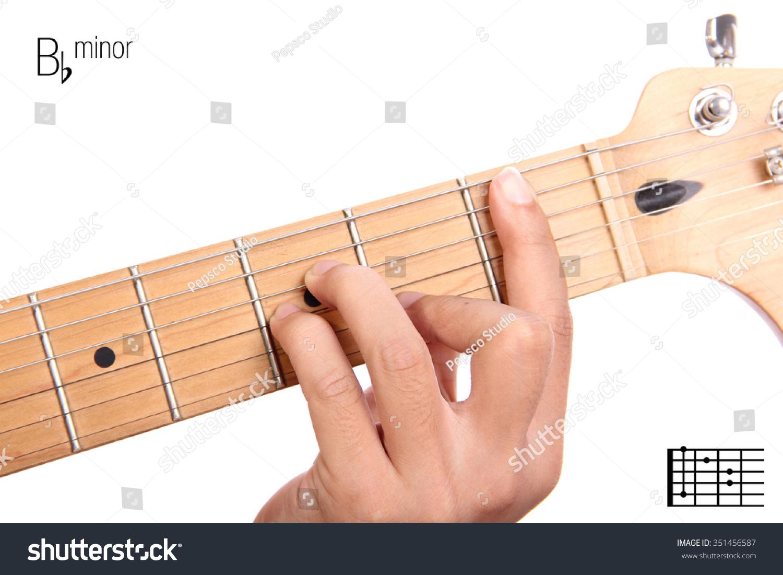 Bbm Basic Minor Keys Guitar Tutorial Stock Photo Edit Now