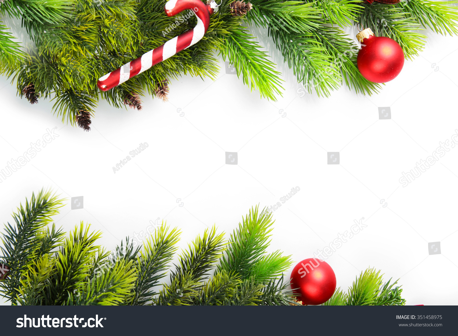 Christmas Tree Branch Red Berries Decorations Stock Photo (Edit Now ...