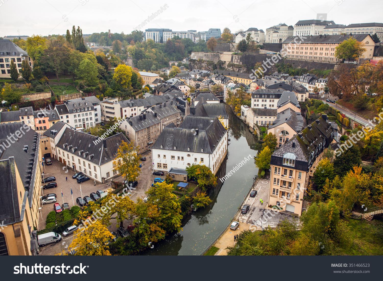Luxemburg Oktomber 12 12 Aerial View  photo de stock ...