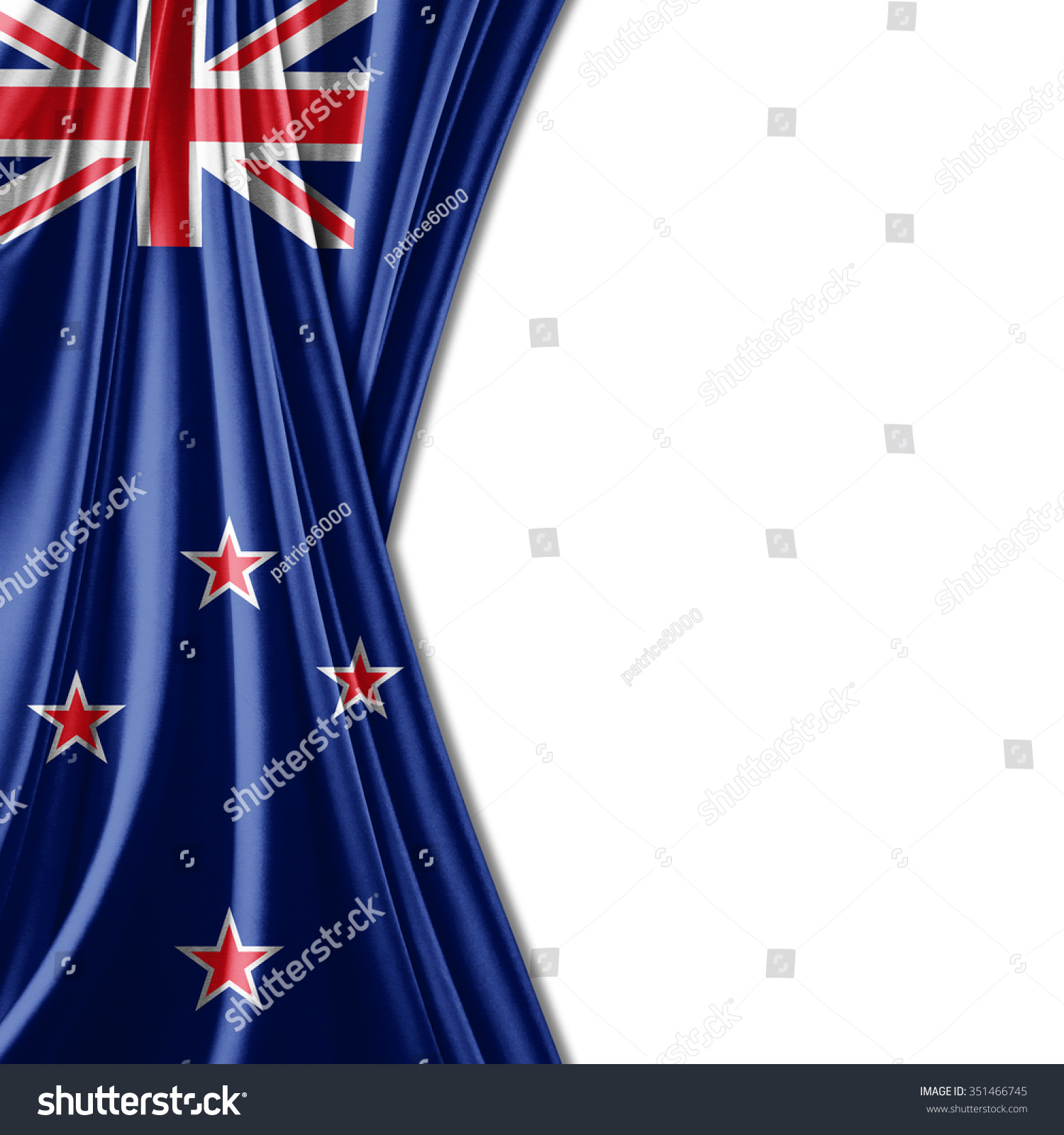 New zealand flag silk copyspace your stock illustration for Space fabric nz