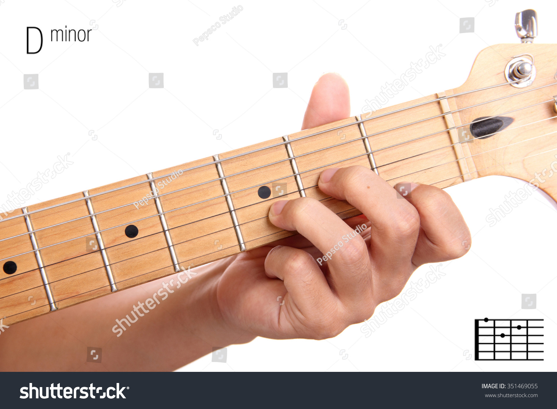 Dm Basic Minor Keys Guitar Tutorial Stock Photo Edit Now 351469055