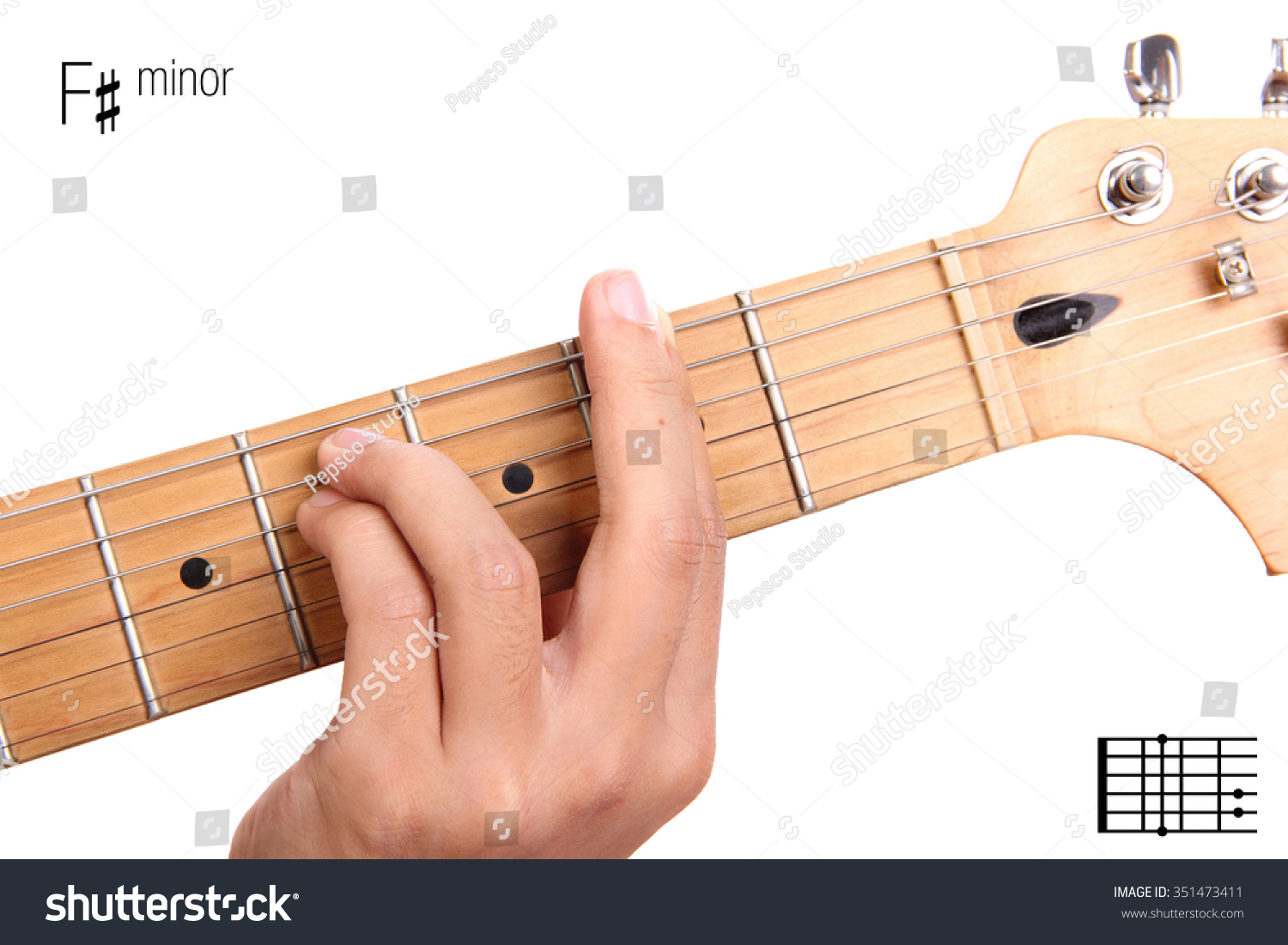Fm Basic Minor Keys Guitar Tutorial Stock Photo Edit Now 351473411