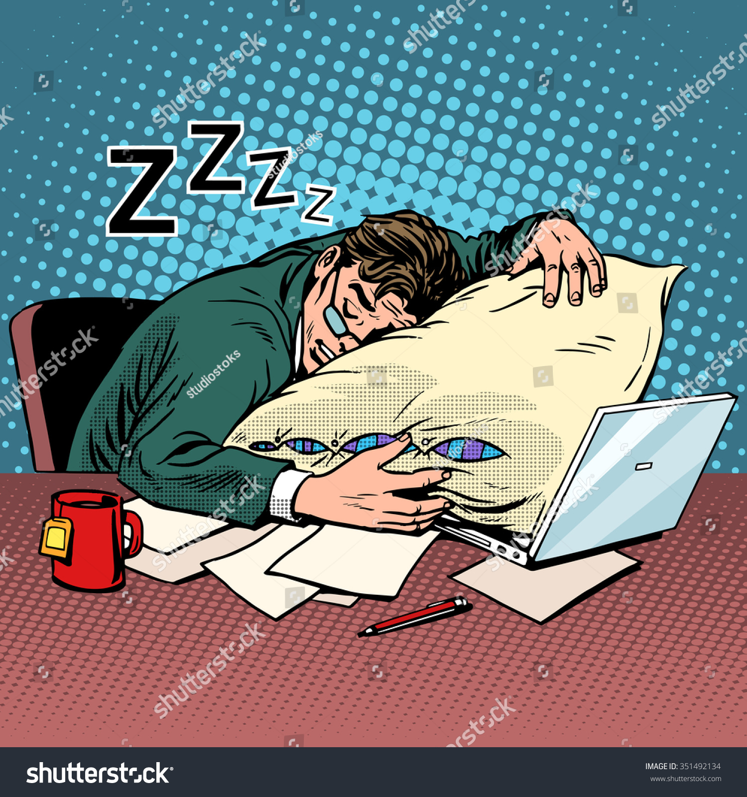 worker dream workplace fatigue processing pop stock vector worker dream workplace fatigue processing pop art retro style evening night good worker