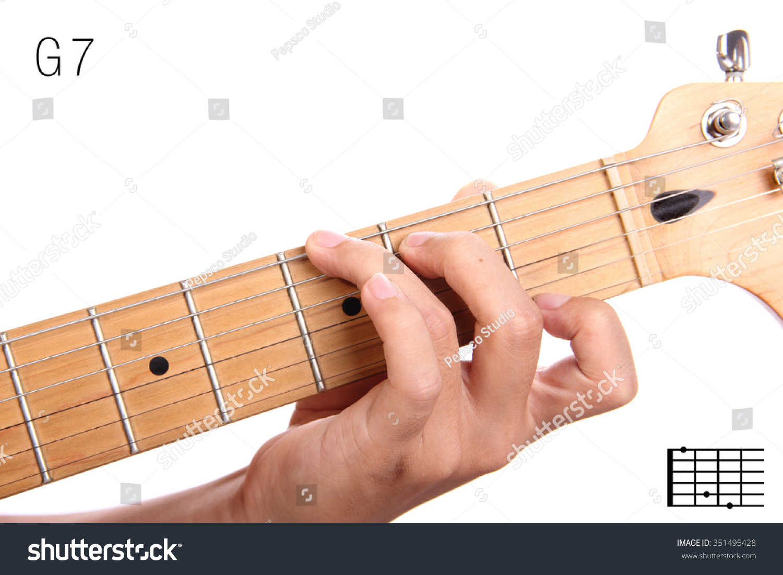 G 7 Dominant 7th Keys Guitar Tutorial Stock Photo Edit Now