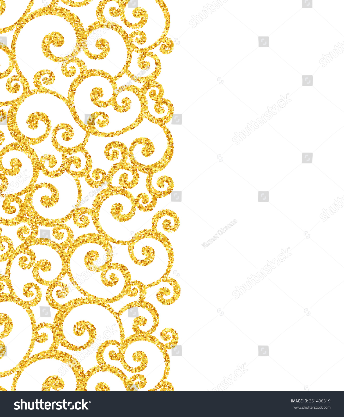 Gold glitter bright vector transparent background golden sparkles - Vector Gold Glitter Swirl Pattern Golden Sparkles On White Background Vip Design Template
